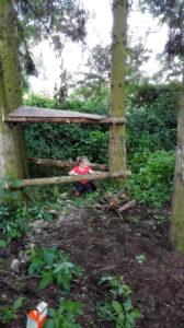 Bude bauen im Wald