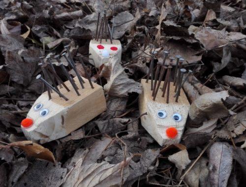 Holz Nägel Igel